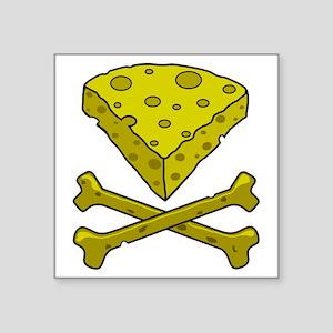 "Cheese & Crossbones Square Sticker 3"" x 3"""