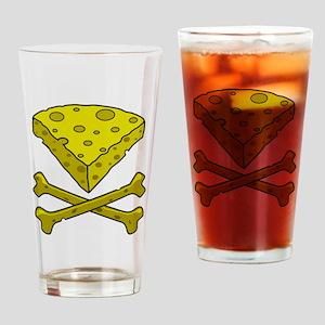 Cheese & Crossbones Drinking Glass