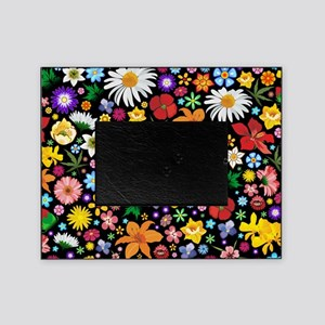 Spring Flowers Pattern Picture Frame