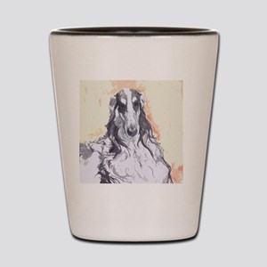 Watercolor Borzoi Shot Glass