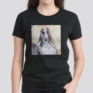 Watercolor Borzoi Women's Dark T-Shirt