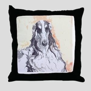 Watercolor Borzoi Throw Pillow
