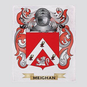 Meighan Coat of Arms - Family Crest Throw Blanket