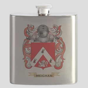 Meighan Coat of Arms - Family Crest Flask