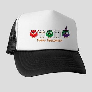 Happy Halloween Owls Trucker Hat