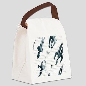 Halftone Rockets Canvas Lunch Bag