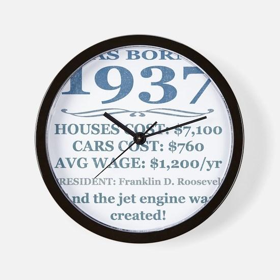 Birthday Facts-1937 Wall Clock