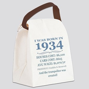 Birthday Facts-1934 Canvas Lunch Bag