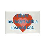 I Share My Heart Rectangle Magnet (100 pack)