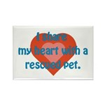 I Share My Heart Rectangle Magnet (100 pack)