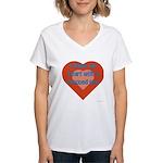I Share My Heart Women's V-Neck T-Shirt