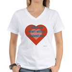 I Share My Heart Women's V-Neck T-Shirt