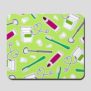 Cute Dentist / Dental Hygienist Print Gr Mousepad