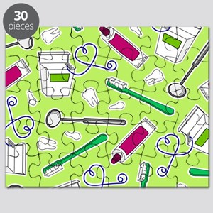 Cute Dentist / Dental Hygienist Print Green Puzzle