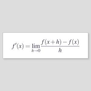 Derivative Definition Bumper Sticker