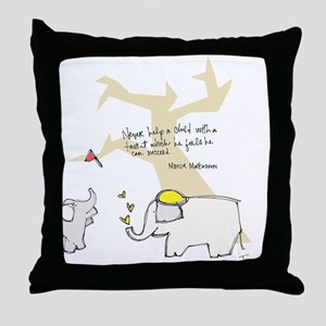 Let Them Spread Their Wings Throw Pillow