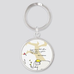 Let Them Spread Their Wings Round Keychain