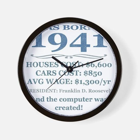 Birthday Facts-1941 Wall Clock