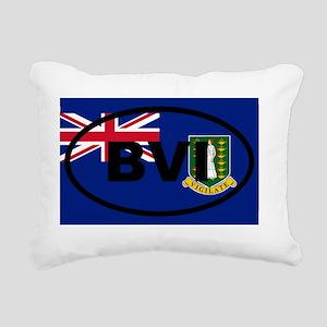 British Virgin Islands Rectangular Canvas Pillow