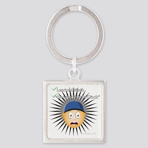 Kids Pick Up Our Tab Square Keychain