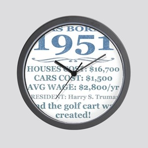 Birthday Facts-1951 Wall Clock