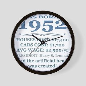Birthday Facts-1952 Wall Clock