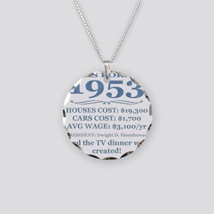 Birthday Facts-1953 Necklace Circle Charm