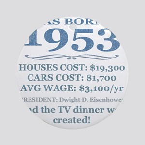 Birthday Facts-1953 Round Ornament