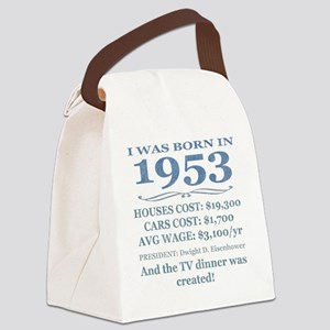 Birthday Facts-1953 Canvas Lunch Bag