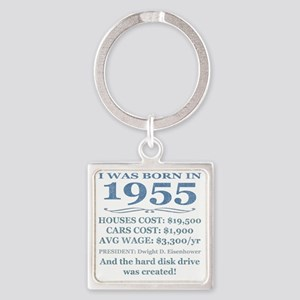 Birthday Facts-1955 Square Keychain