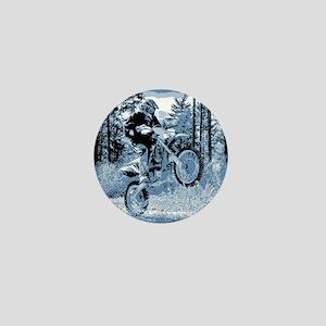 """Fun in the Woods"" (Blue) Mini Button"