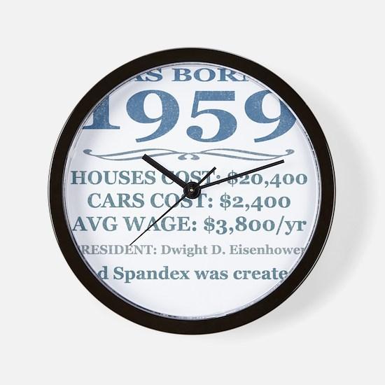 Birthday Facts-1959 Wall Clock