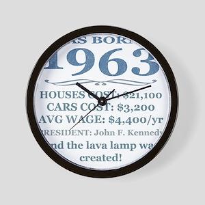 Birthday Facts-1963 Wall Clock