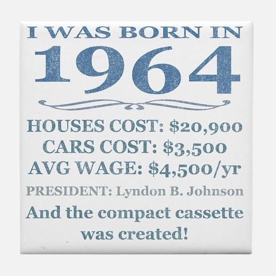 Birthday Facts-1964 Tile Coaster