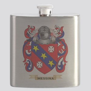 Messina Coat of Arms - Family Crest Flask