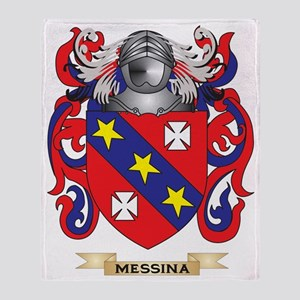 Messina Coat of Arms - Family Crest Throw Blanket