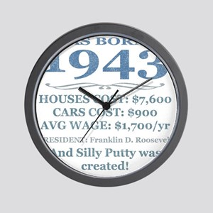 Birthday Facts-1943 Wall Clock