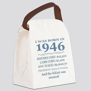 Birthday Facts-1946 Canvas Lunch Bag