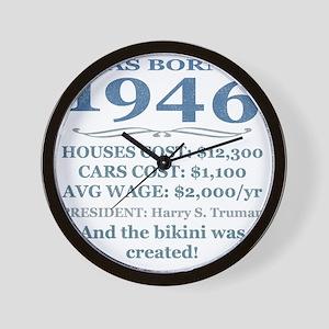 Birthday Facts-1946 Wall Clock