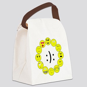 Emoticons Canvas Lunch Bag