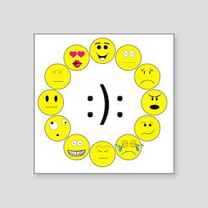 "Emoticons Square Sticker 3"" x 3"""