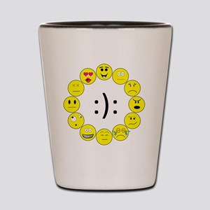 Emoticons Shot Glass