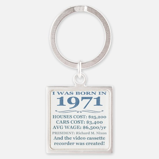 Birthday Facts-1971 Square Keychain