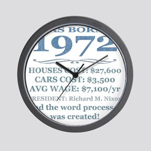 Birthday Facts-1972 Wall Clock