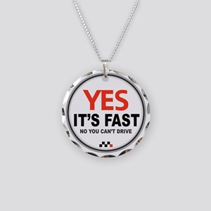 Yes its Fast! Necklace Circle Charm