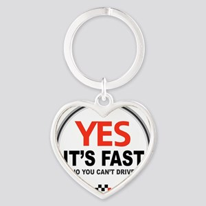 Yes its Fast! Heart Keychain