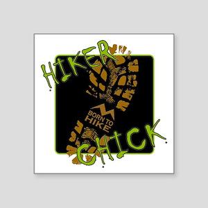 "Hiker Chick - Boot Square Sticker 3"" x 3"""