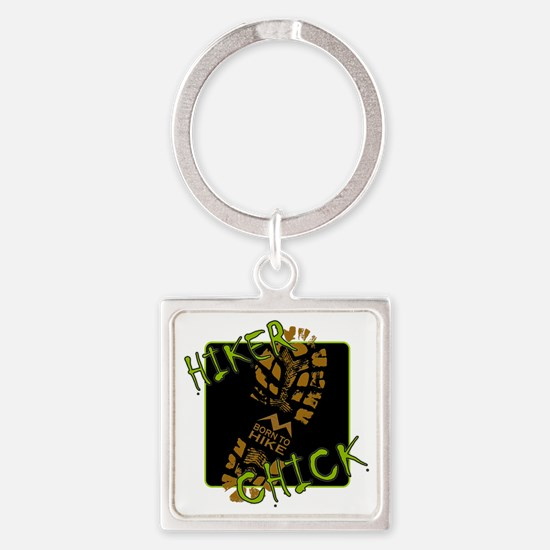 Hiker Chick - Boot Square Keychain