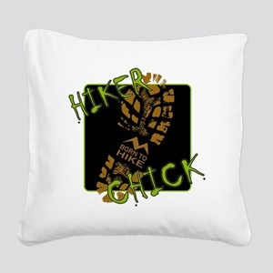 Hiker Chick - Boot Square Canvas Pillow