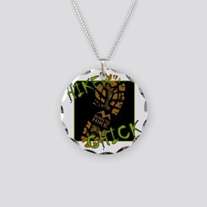 Hiker Chick - Boot Necklace Circle Charm